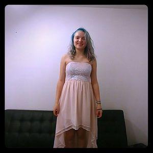Pink sequence dress
